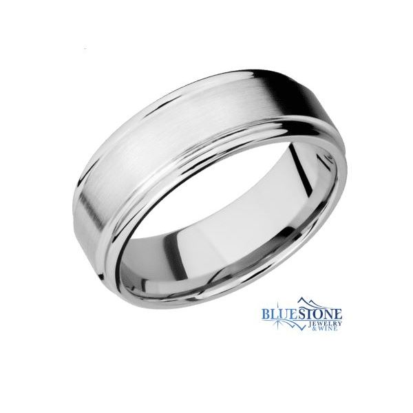 8mm Cobalt Band w/ a Satin Middle & Rounded Polished Edges Bluestone Jewelry Tahoe City, CA