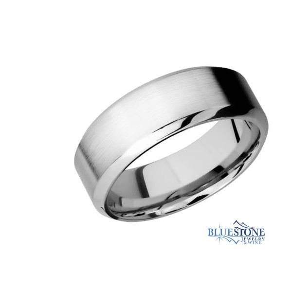 8mm Cobalt Band w/ a Satin Middle & Polished High Beveled Edges Bluestone Jewelry Tahoe City, CA