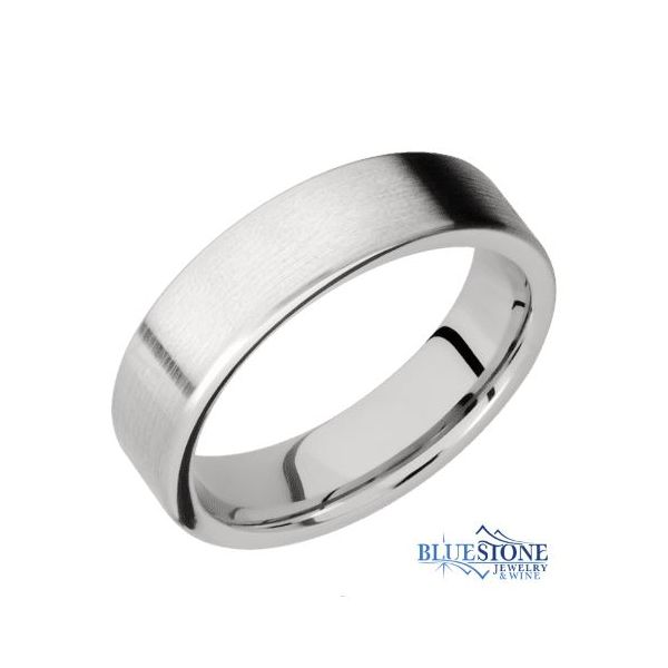 6mm Cobalt Flat Band w/ Satin Finish Bluestone Jewelry Tahoe City, CA