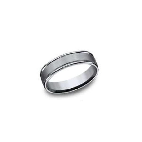 Titanium Comfort Fit 6mm Band with Satin Finish- Size 11.5 Bluestone Jewelry Tahoe City, CA