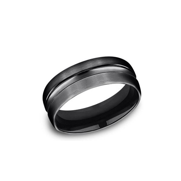 Black Titanium 7.5mm Wedding Band- Size 10 Bluestone Jewelry Tahoe City, CA