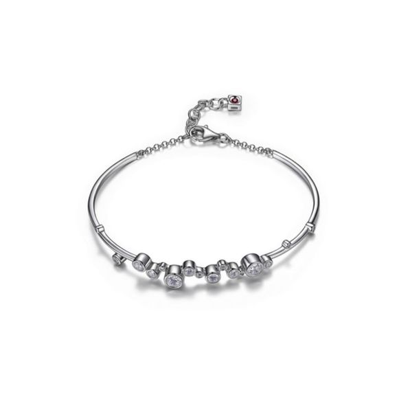 Sterling Silver Bracelet with Cubic Zirconias and Ruby Bluestone Jewelry Tahoe City, CA