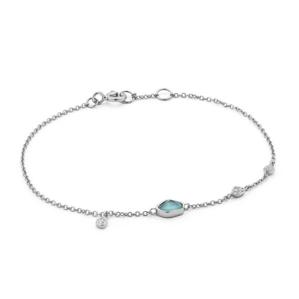 Silver Bracelet with Turquoise Bluestone Jewelry Tahoe City, CA
