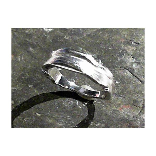 6mm Tapered Sterling Silver Satin Finished Fashion Ring Image 2 Bluestone Jewelry Tahoe City, CA