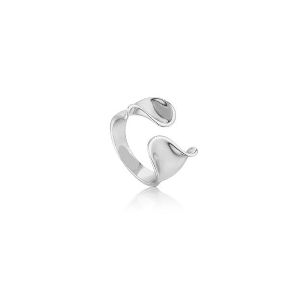 Sterling Silver with Rhodium Plating Wide Twist Adjustable Ring Bluestone Jewelry Tahoe City, CA