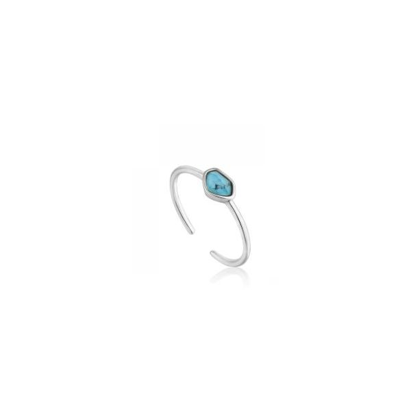 Sterling Silver Turquoise Adjustable Ring Bluestone Jewelry Tahoe City, CA