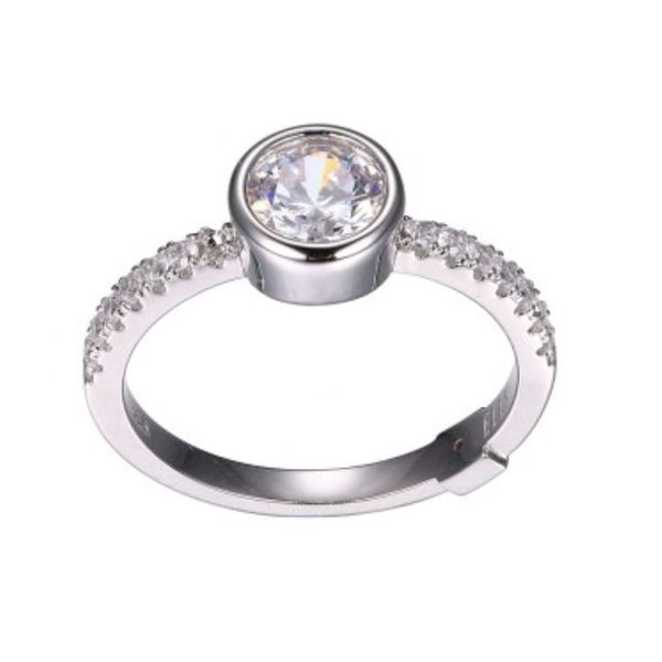 Silver Ring with Cubic Zirconia- Size 6 Bluestone Jewelry Tahoe City, CA