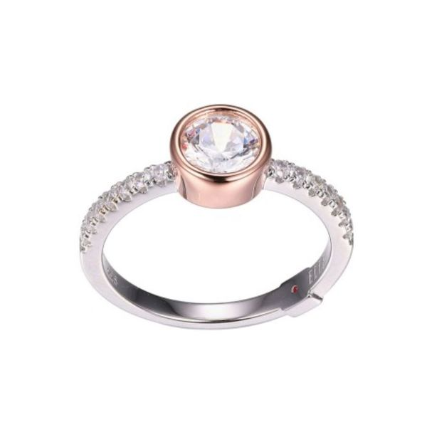 Silver and Rose Gold Ring with Cubic Zirconia- Size 7 Bluestone Jewelry Tahoe City, CA