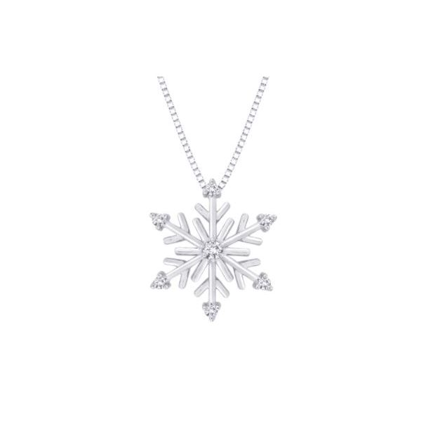 Sterling Silver and Diamond Snowflake Pendant with Chain Bluestone Jewelry Tahoe City, CA