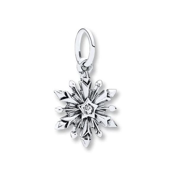 Sterling Silver Snowflake Charm with Cubic Zirconia Bluestone Jewelry Tahoe City, CA