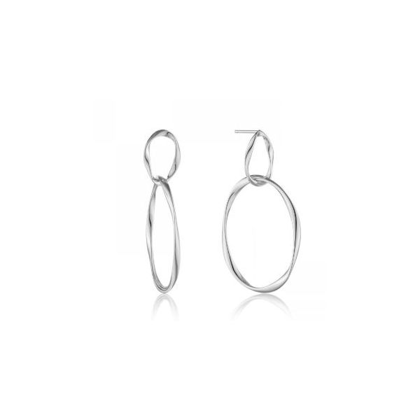 Sterling Silver with Rhodium Plating Stud Swirl Earrings Bluestone Jewelry Tahoe City, CA