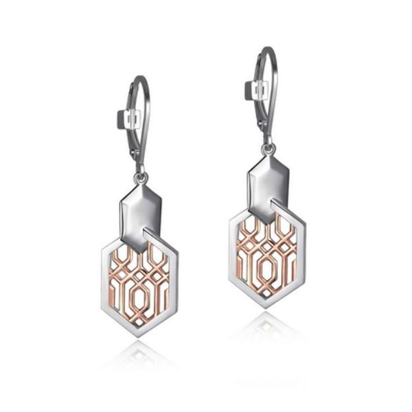 Sterling Silver Rose Gold Earrings with Rubies Bluestone Jewelry Tahoe City, CA