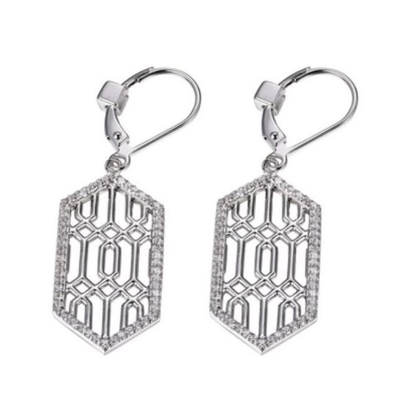 Sterling Silver Earrings with Cubic Zirconias with Rubies Bluestone Jewelry Tahoe City, CA