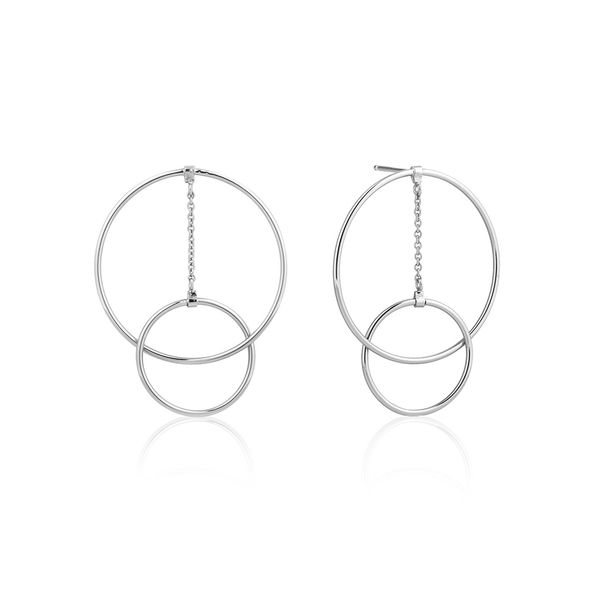 Sterling Silver Post Drop Stud Modern Circle Dangle Earrings Bluestone Jewelry Tahoe City, CA
