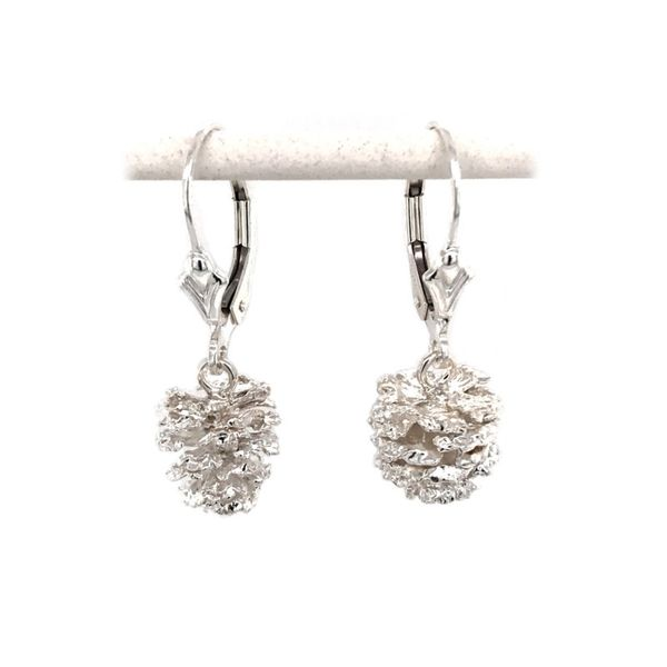 Sterling Silver Pine Cone Lever Back Earrings Bluestone Jewelry Tahoe City, CA