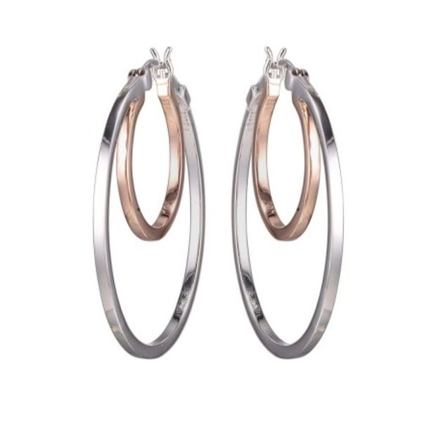 Silver and Rose Gold Earrings Bluestone Jewelry Tahoe City, CA