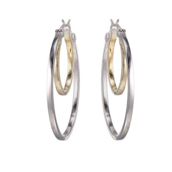 Silver and Yellow Gold Earrings Bluestone Jewelry Tahoe City, CA