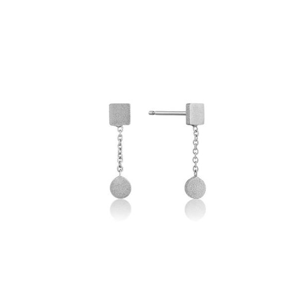 Sterling Silver with Rhodium Plating Dangle Stud Earrings Bluestone Jewelry Tahoe City, CA