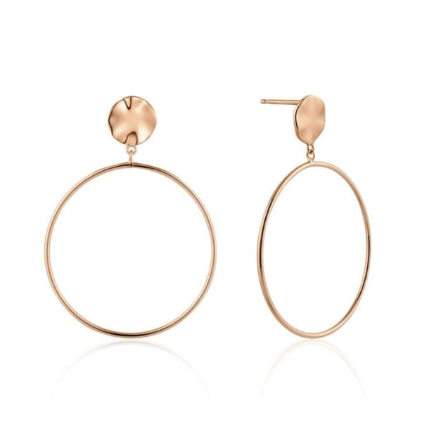 Sterling Silver with 14 Karat Rose Gold Plating Huggie Hoop Earrings Bluestone Jewelry Tahoe City, CA
