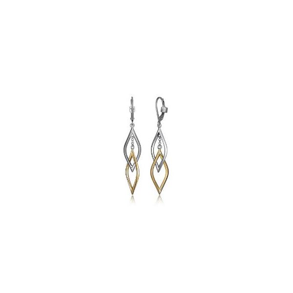 Sterling Silver & Yellow Gold Plating Earrings & Rubies Bluestone Jewelry Tahoe City, CA
