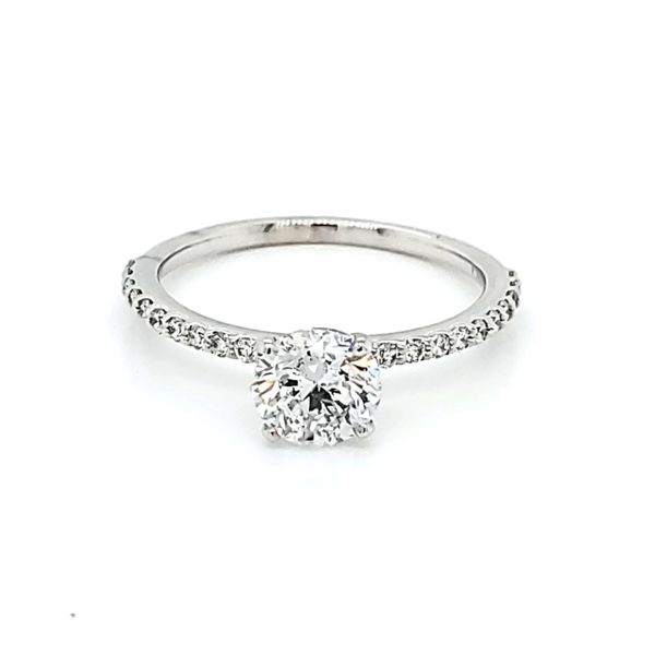 Round Engagement Ring Blue Water Jewelers Saint Augustine, FL