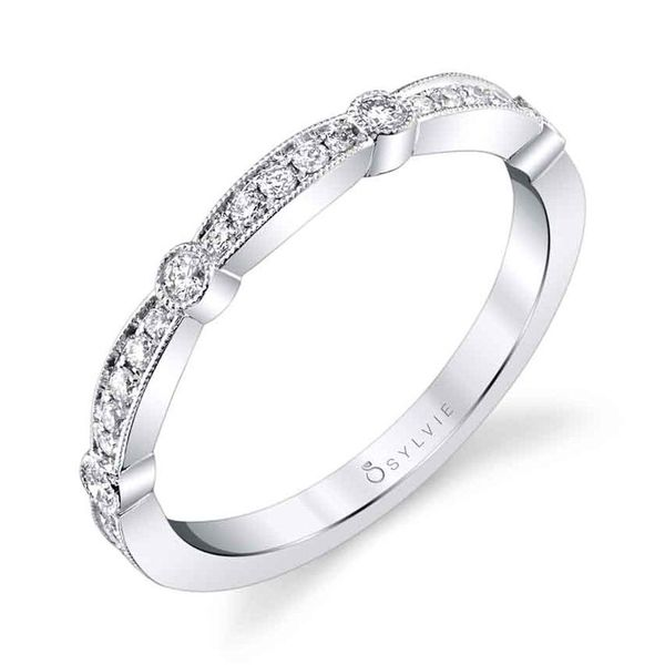 Diamond Stackable Wedding Band Blue Water Jewelers Saint Augustine, FL