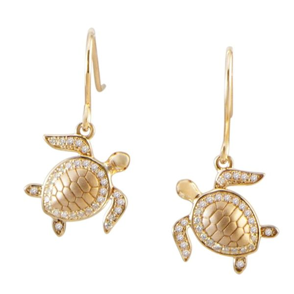 Turtle Dangle Earrings Blue Water Jewelers Saint Augustine, FL