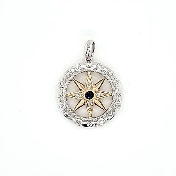 Two-Tone Compass Pendant Blue Water Jewelers Saint Augustine, FL