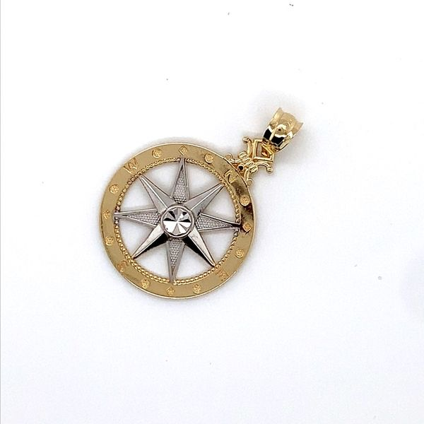 Gold Compass Pendant Blue Water Jewelers Saint Augustine, FL
