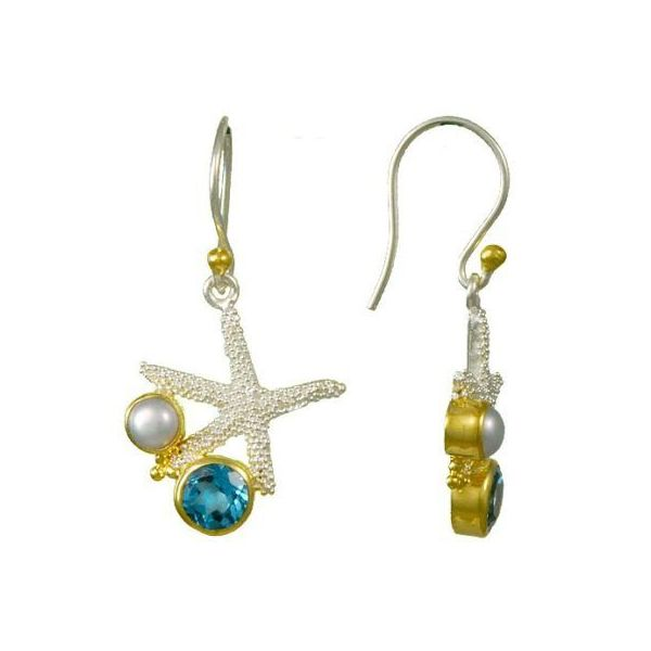 Starfish Earrings Blue Water Jewelers Saint Augustine, FL