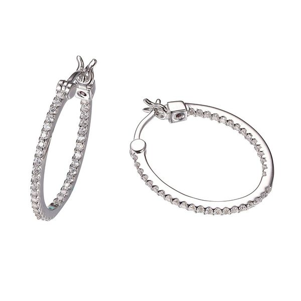 Silver Hoop Earrings Blue Water Jewelers Saint Augustine, FL