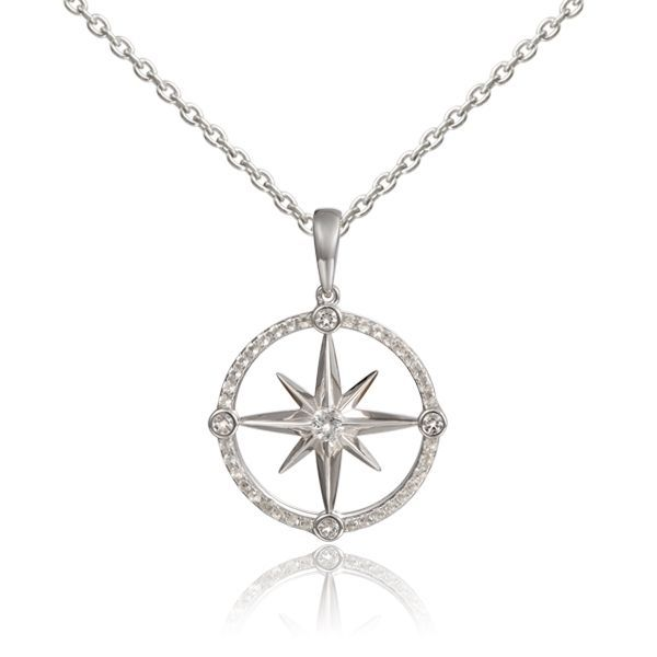 Compass Pendant Blue Water Jewelers Saint Augustine, FL