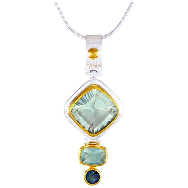 Colored Stone Pendant Blue Water Jewelers Saint Augustine, FL