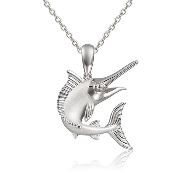 Leaping Marlin Pendant Blue Water Jewelers Saint Augustine, FL