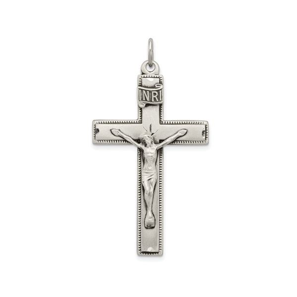 INRI Crucifix Cross With The Lords Prayer Blue Water Jewelers Saint Augustine, FL