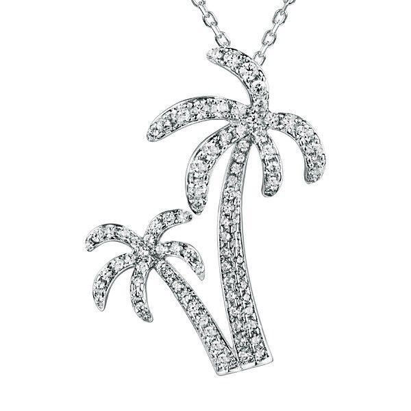 Double Palm Tree Pendant Blue Water Jewelers Saint Augustine, FL