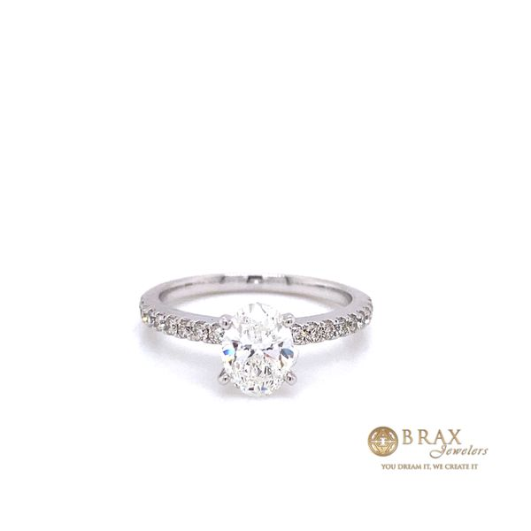Engagement rings with Lab Grown center stone Image 3 Brax Jewelers Newport Beach, CA