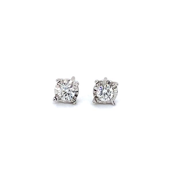 1/3 ctw Round Diamond Reflections Stud Earrings in 14kt White Gold Carroll / Ochs Jewelers Monroe, MI