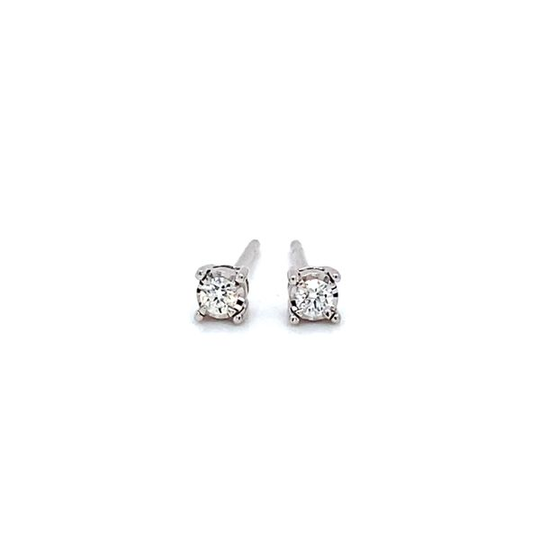 1/10 ctw Round Diamond Reflections Stud Earrings in 14kt White Gold Carroll / Ochs Jewelers Monroe, MI