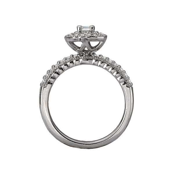 Emerald Cut Diamond Double Halo Engagement Ring Image 3 Carter's Jewelry, Inc. Petal, MS