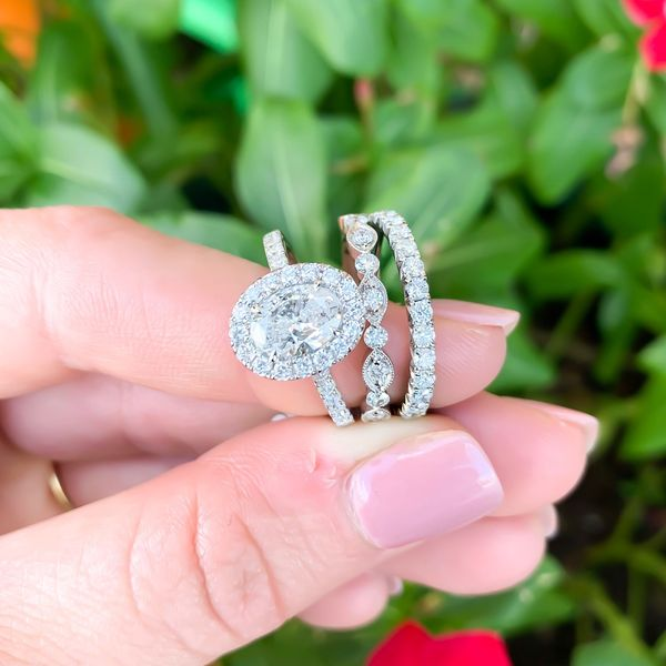 Oval Diamond Halo Engagement Ring Image 2 Carter's Jewelry, Inc. Petal, MS