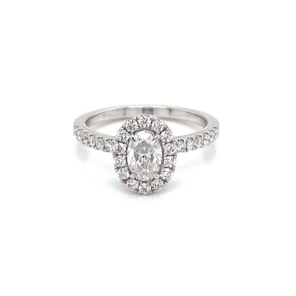 Oval Diamond Halo Engagement Ring Carter's Jewelry, Inc. Petal, MS