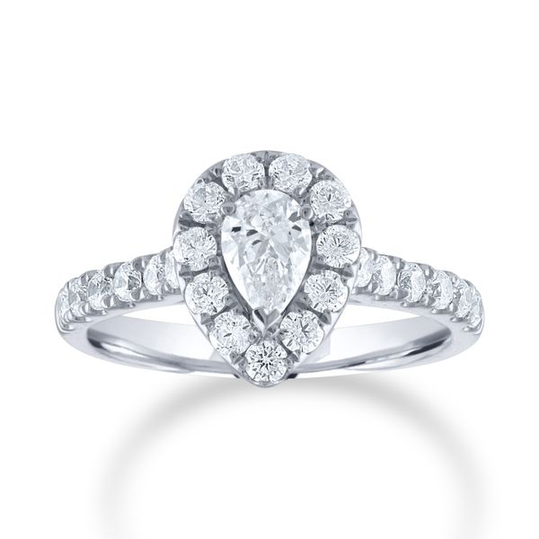 Pear Diamond Halo Engagement Ring Carter's Jewelry, Inc. Petal, MS
