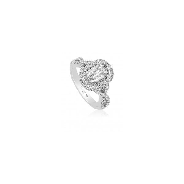 Christopher Designs Infinity Shank Halo Engagement Ring Image 2 Carter's Jewelry, Inc. Petal, MS