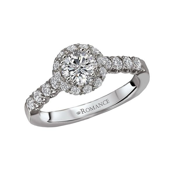 Round Diamond Halo Engagement Ring Image 2 Carter's Jewelry, Inc. Petal, MS