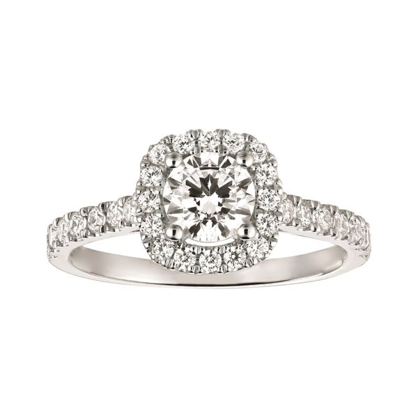 Cushion Halo Diamond Engagement Ring Carter's Jewelry, Inc. Petal, MS