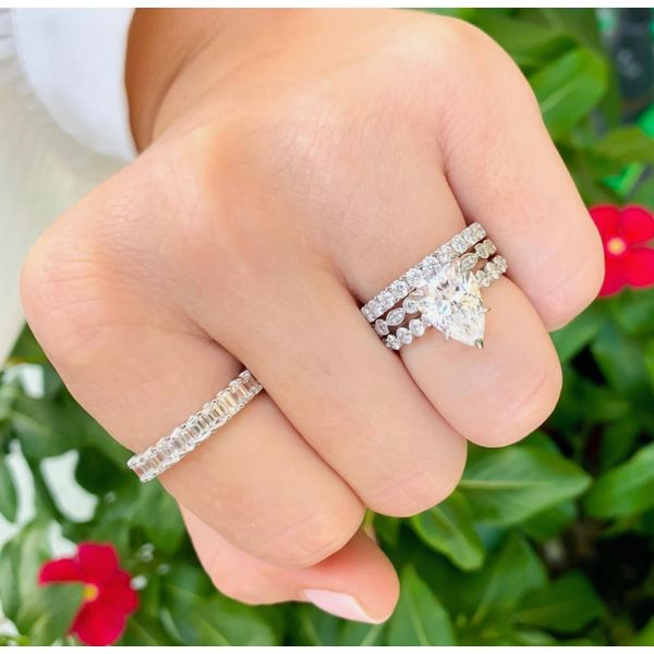 Aster Pear Shaped Shared Prong Diamond Engagement Ring Image 4 Carter's Jewelry, Inc. Petal, MS