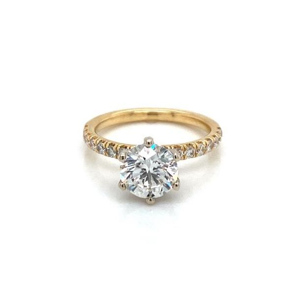 Round 6 Prong Diamond Hidden Halo Solitaire Enagement Ring Carter's Jewelry, Inc. Petal, MS
