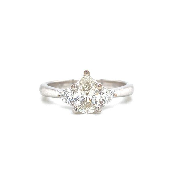 Pear Shaped Three Stone Diamond Engagement Ring Image 2 Carter's Jewelry, Inc. Petal, MS