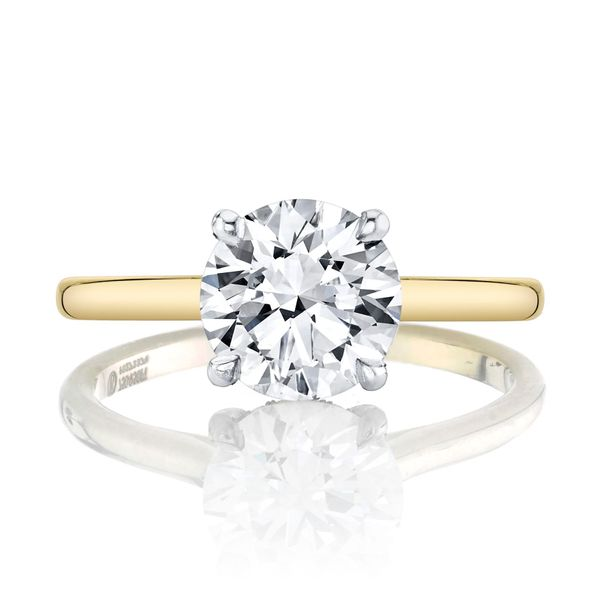 Round Brilliant Hidden Halo Solitaire Engagement Ring Image 3 Carter's Jewelry, Inc. Petal, MS